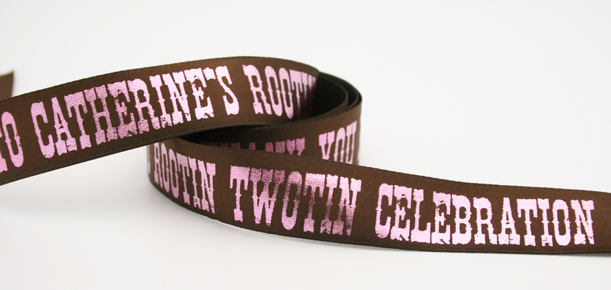 Custom printed birthday ribbon for birthdays by FinerRibbon.com