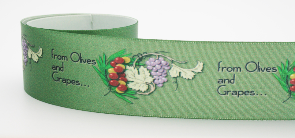 Washable personalized ribbon by FinerRibbon.