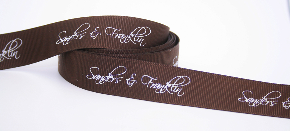 Custom printed ribbon by FinerRibbon.com