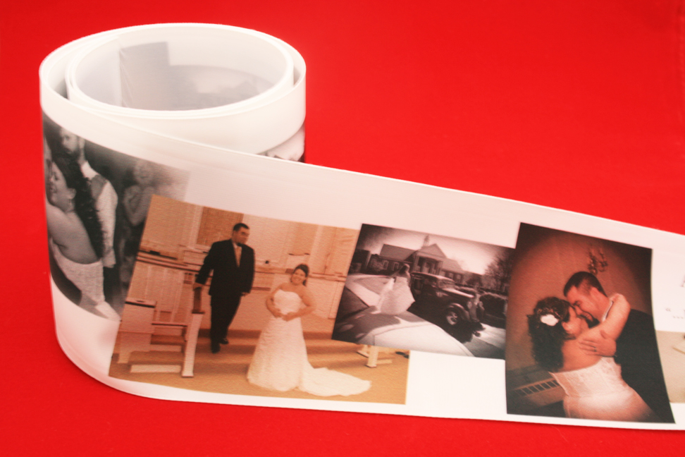 Digital Photo Printing on Personalized Ribbon by FinerRibbon.com!