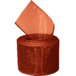 Rust Organza Ribbon