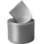 Silver Single Face Satin Ribbon