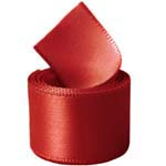 Red Single Face Satin Ribbon