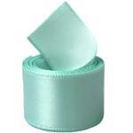 Aqua Single Face Satin Ribbon