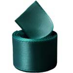 Teal Single Face Satin Ribbon