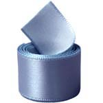 Smoke Blue Single Face Satin Ribbon