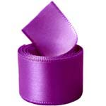 Purple Single Face Satin Ribbon