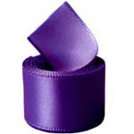 Regal Purple Single Face Satin Ribbon