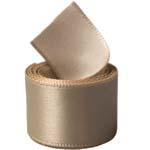Tan Single Face Satin Ribbon