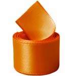 Pumpkin Single Face Satin Ribbon