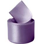Silver Purple Single Face Satin Ribbon