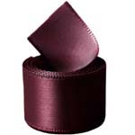 Burgundy Double Face Satin Ribbon