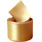 Old Gold Double Face Satin Ribbon
