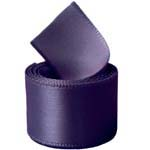 Black Plum Double Face Satin Ribbon