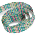 Green / Blue Striped Ribbon