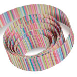 Pink / Turquoise Striped Ribbon