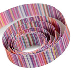 Purple / Orange Striped Ribbon