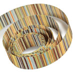 Yellow / Brown Striped Ribbon
