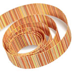 Yellow / Orange Striped Ribbon