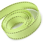 Ice Honeydew / Willow Saddle Stitch Grosgrain Ribbon