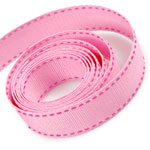 Pink / Hot Pink Saddle Stitch Grosgrain Ribbon