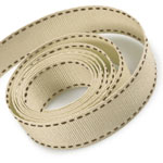 Tan / Brown Saddle Stitch Grosgrain Ribbon