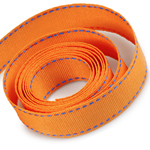 Torrid Orange / Capri Blue Saddle Stitch Grosgrain Ribbon