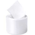 Extra Wide White Double Face Satin Ribbon