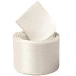 Extra Wide Antique White Double Face Satin Ribbon
