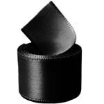 Extra Wide Black Double Face Satin Ribbon