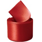 Extra Wide Red Double Face Satin Ribbon