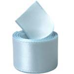 Extra Wide Light Blue Double Face Satin Ribbon