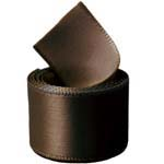 Extra Wide Brown Double Face Satin Ribbon