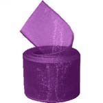 Plum Organza Ribbon