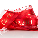 4. Personalized Satin Center Organza Ribbon - 100 Yds