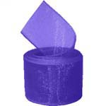 Regal Purple Organza Ribbon