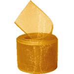 Old Gold Organza Ribbon