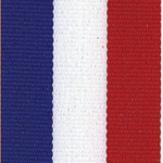 Tri-Stripe Red White Blue Ribbon