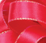 Hot Pink Opal Edge Double Face Satin Ribbon