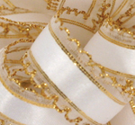 White/Gold Julie Ribbon