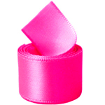 Neon Hot Pink Double Face Satin Ribbon