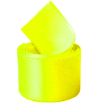 Neon Yellow Double Face Satin Ribbon