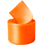Neon Tangerine Double Face Satin Ribbon
