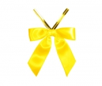 Daffodil Satin Twist-Tie Bow (50 Pcs)