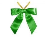 Emerald Satin Twist-Tie Bow (50 Pcs)