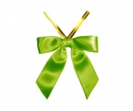 Kiwi Satin Twist-Tie Bow (50 Pcs)