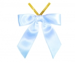 Light Blue Satin Twist-Tie Bow (50 Pcs)