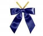 Navy Satin Twist-Tie Bow (50 Pcs)