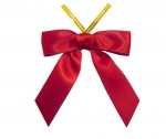 Red Satin Twist-Tie Bow (50 Pcs)