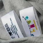 Pre-Cut Soft Coated Nylon MultiColor Printed Garment Labels